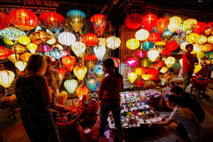 Visit the Night Market after riding with an Easy Rider Dalat to Hoi An