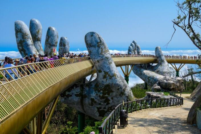 Visit the Golden Bridge from Hoi An