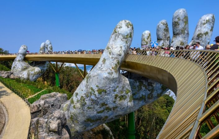 Ride from Hue to Hoi An Golden Bridge